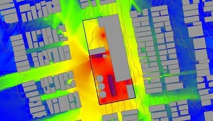 Noise contour map
